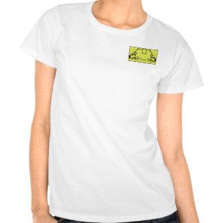 Chartreuse & Black Monogram Filigree Tshirts