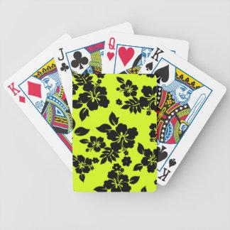 Chartreuse Dark Hawaiian Bicycle Playing Cards