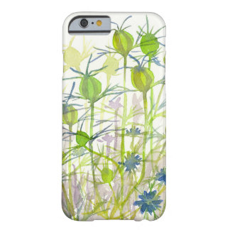 Chartreuse Green Nigella Seed Pods Watercolor Barely There iPhone 6 Case