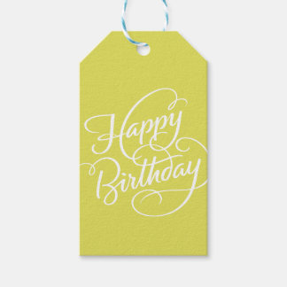 CHARTREUSE HAPPY BIRTHDAY | GIFT TAG