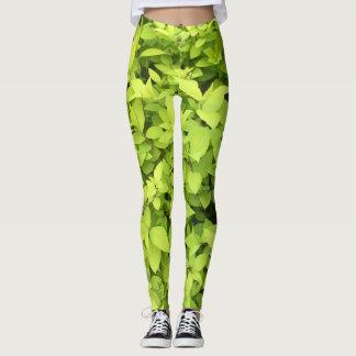 Chartreuse Leaf Leggings