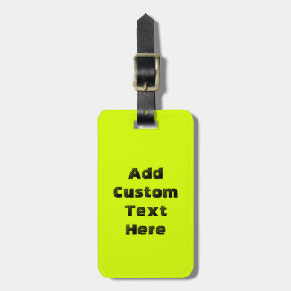 Chartreuse Luggage Tag