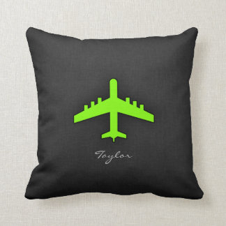 Chartreuse, Neon Green Airplane Cushion