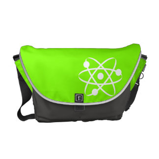 Chartreuse Neon Green Atom Courier Bags