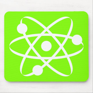 Chartreuse, Neon Green Atom Mouse Pad