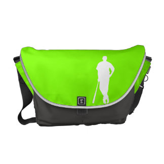 Chartreuse Neon Green Baseball Courier Bags