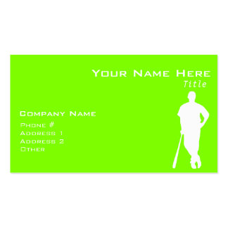 Chartreuse, Neon Green Baseball Pack Of Standard Business Cards