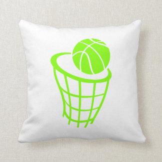 Chartreuse, Neon Green Basketball Cushion