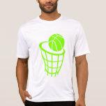 Chartreuse, Neon Green Basketball Tshirts
