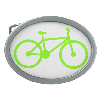 Chartreuse, Neon Green Bicycle Oval Belt Buckles