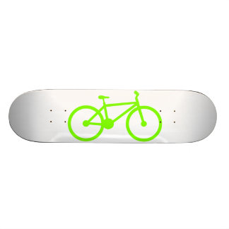 Chartreuse, Neon Green Bicycle Custom Skate Board