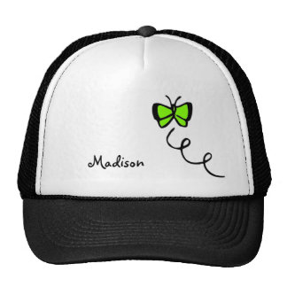 Chartreuse, Neon Green Butterfly Cap