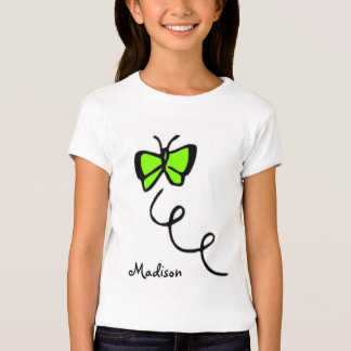 Chartreuse, Neon Green Butterfly T-Shirt