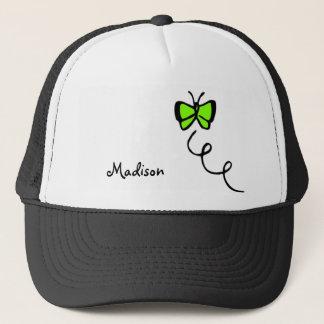 Chartreuse, Neon Green Butterfly Trucker Hat