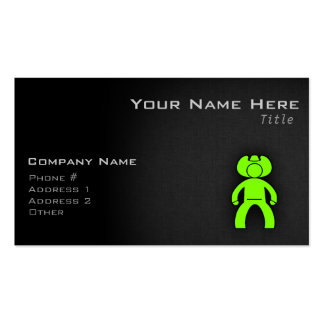 Chartreuse, Neon Green Cowboy Double-Sided Standard Business Cards (Pack Of 100)