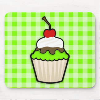 Chartreuse, Neon Green Cupcake Mouse Pad