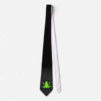 Chartreuse, Neon Green Frog Tie