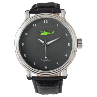 Chartreuse, Neon Green Helicopter Wristwatches