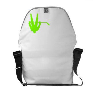 Chartreuse, Neon Green Hockey Messenger Bag