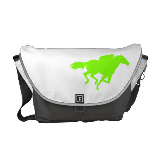 Chartreuse, Neon Green Horse Racing Courier Bag