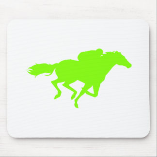 Chartreuse, Neon Green Horse Racing Mouse Pad
