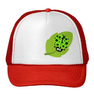 Chartreuse, Neon Green Ladybug Mesh Hat