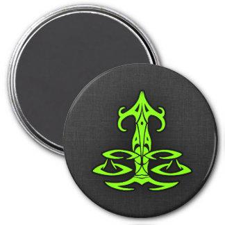 Chartreuse, Neon Green Libra Fridge Magnet