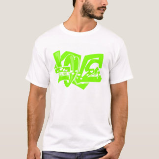 Chartreuse, Neon Green Love Graffiti T-Shirt