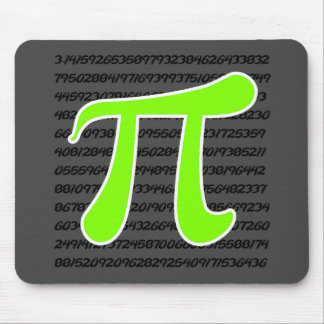 Chartreuse, Neon Green Pi symbol Mouse Pad