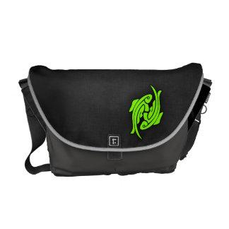 Chartreuse, Neon Green Pisces Messenger Bag