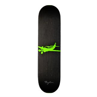 Chartreuse, Neon Green Plane Skateboard