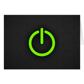 Chartreuse Neon Green Power Button Card
