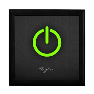 Chartreuse Neon Green Power Button Gift Boxes