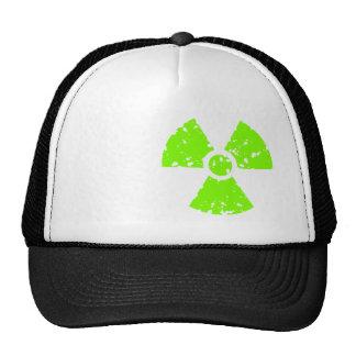 Chartreuse, Neon Green Radioactive Symbol Mesh Hat