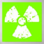 Chartreuse, Neon Green Radioactive Symbol Print