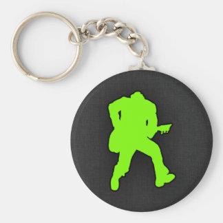 Chartreuse Neon Green Rocker Key Chain