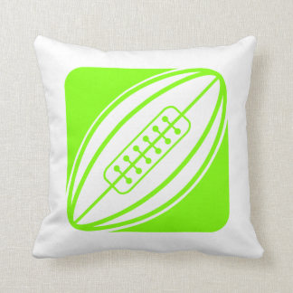Chartreuse, Neon Green Rugby Cushion