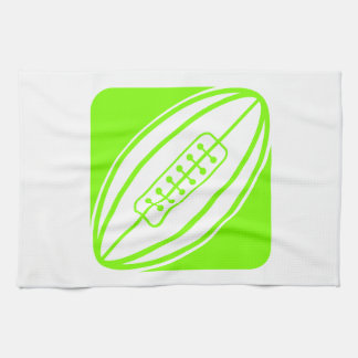 Chartreuse, Neon Green Rugby Tea Towel