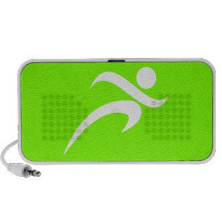 Chartreuse, Neon Green Running Notebook Speaker