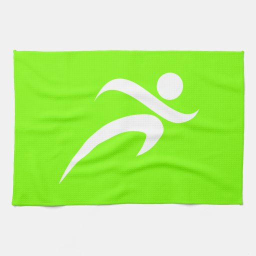 Chartreuse, Neon Green Running Towels