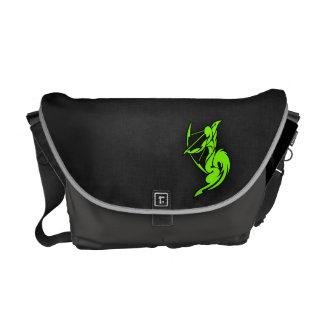 Chartreuse Neon Green Sagittarius Courier Bag