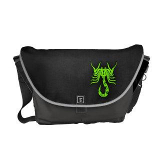 Chartreuse Neon Green Scorpion Messenger Bags