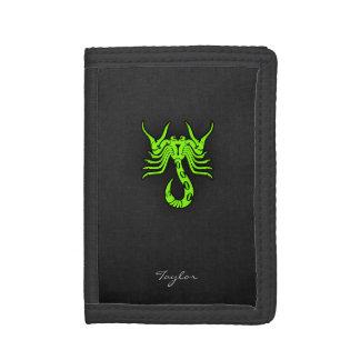 Chartreuse, Neon Green Scorpion Tri-fold Wallets