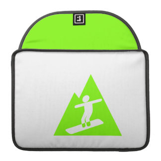 Chartreuse, Neon Green Snowboarding Sleeve For MacBook Pro