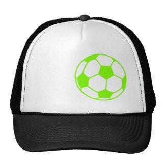 Chartreuse, Neon Green Soccer Ball Cap