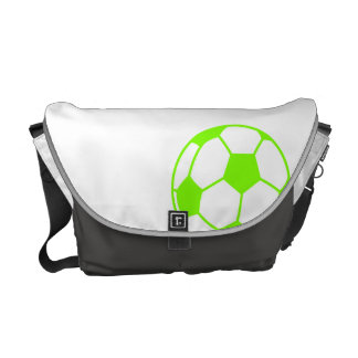 Chartreuse, Neon Green Soccer Ball Courier Bags