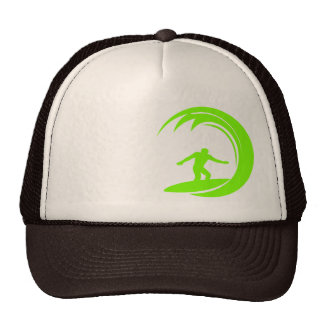 Chartreuse, Neon Green Surfing Cap