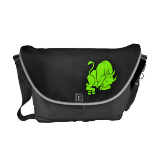 Chartreuse Neon Green Taurus Courier Bags