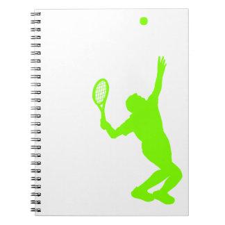 Chartreuse, Neon Green Tennis Notebook