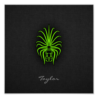 Chartreuse, Neon Green Virgo Poster